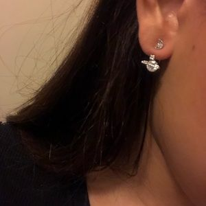 Planet and star earring